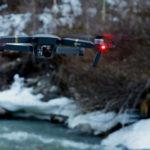 Mavic Pro Drone following over mountains