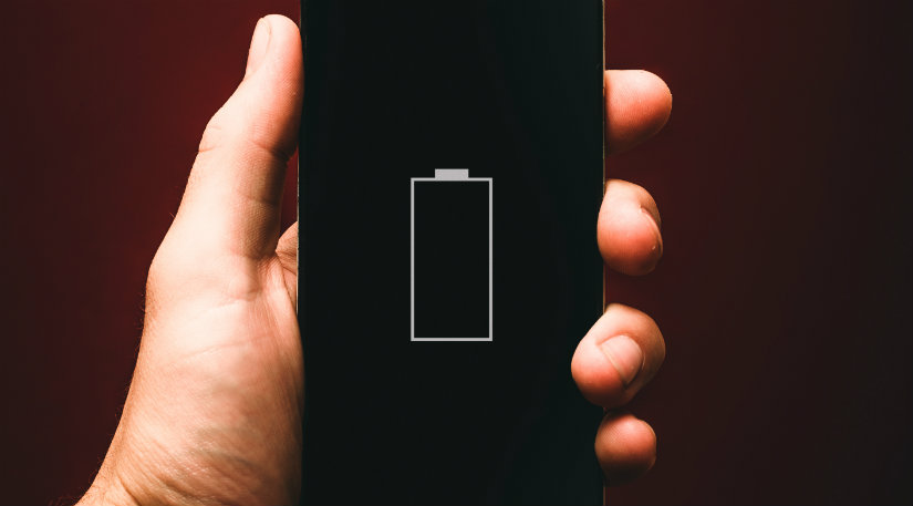 Low battery on a phone
