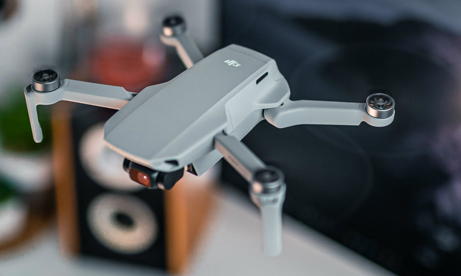 A drone hovering