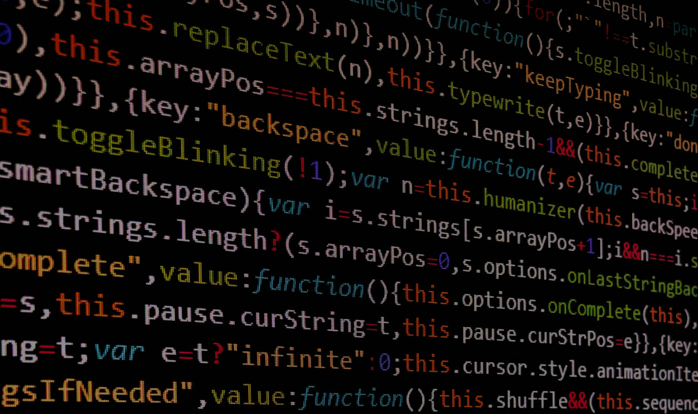 A screen of code